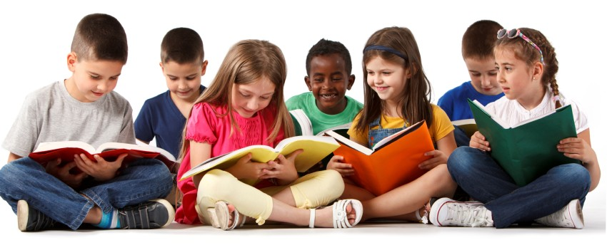 Picture of children reading.